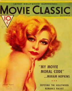 Ginger Rogers   Movie Classic Magazine Cover 1930s Masterprint
