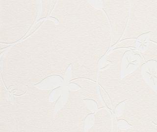 Rollen Rasch Tapete New Beats Vlies Weiß Blumen Retro