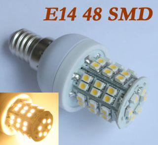 E14 LED 48 SMD Lampen Strahler LED mini extrem kompakt warmweiss