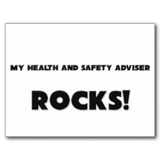 MY Health And Safety Adviser ROCKS Post Cards