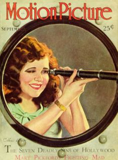 Clara Bow   Motion Picture Magazine Cover 1930s Masterprint