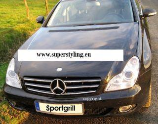 Mercedes W219 C219 CLS Grill Kuehlergril AMG look Sportgrill Schwarz