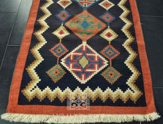 Qashquai Kelim Nomaden Teppich Kelim Läufer 240 x 84 cm