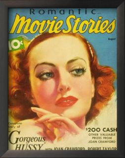 Joan Crawford   Romantic Movie Stories Magazine Cover 1930s Posters