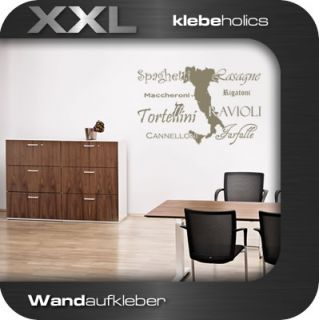 A226  Pasta Italien Wandtattoo Wandaufkleber Küche XXL