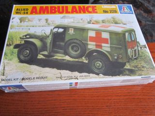 RAR ALLIED WC 54 AMBULANCE, ITALERI No. 226 1/35 ****