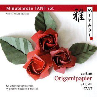 Origami Minutenrose Tant rot mit Anleitung(deutsch) Küche