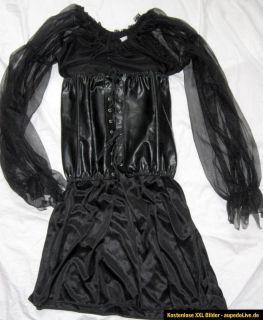 Hexe °° Vampir Kostüm °° Kleid + Corsage Gr 40 42 ° Schwarz
