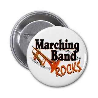 Marching Band Rocks Pinback Buttons