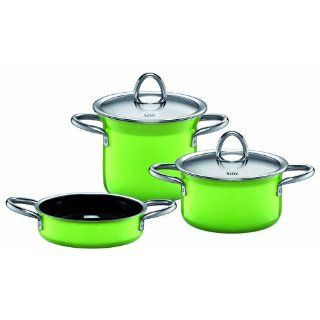 Silit 0013173711 Topf Set 5 teiliges Mini Max lemon green