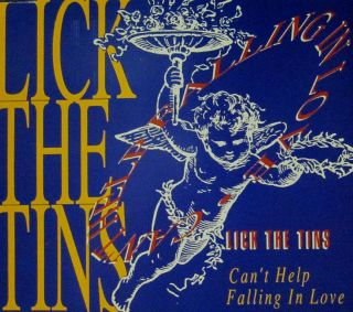Lick The Tins(CD Single)Cant Help Falling in Love Mooncrest CDMOON