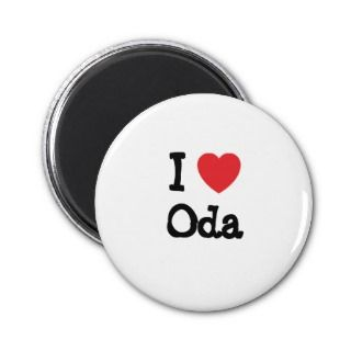 love Oda heart T Shirt Magnets