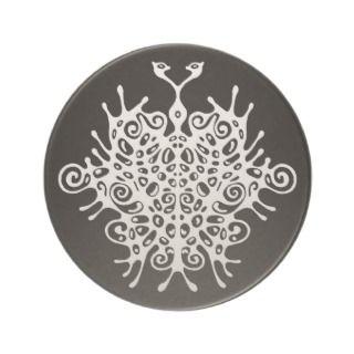 Surreal Elegant Tribal Butterfly Tattoo coaster