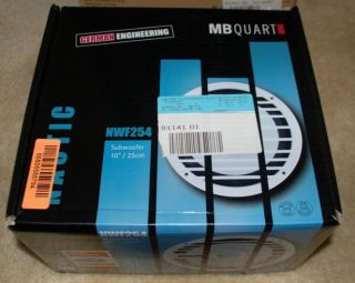 New in Box MB QUART Nautic NWF254 10 200W Marine Boat Subwoofer