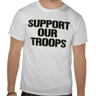 Support Our Troops Shirt  Camoflauge Print