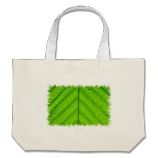 Green Leaf Canvas Bag