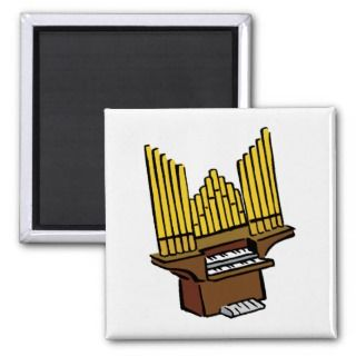 Pipe Organ Keyboard Wind Musical Instrument Magnets