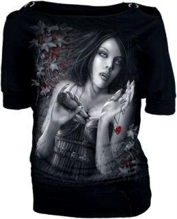 Gothic Fantasy Emo T Shirt Top Bluse Vampir L 40 Neu