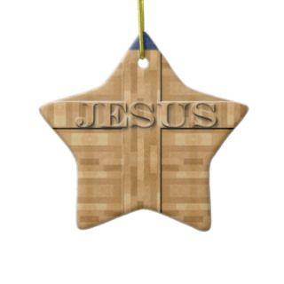Jesus Wood Carving Ornament