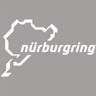 White Nurburgring Track Car Exterior Decal Sticker 2
