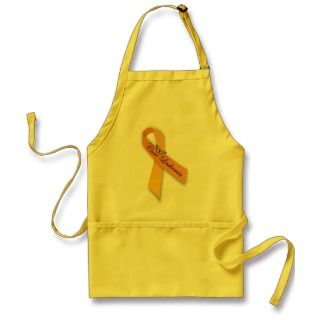 Cure Leukemia Orange Ribbon Apron