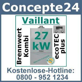 Vaillant ecoTEC plus VCW 246/3 5 27 kW 370f Gas Brennwert Gastherme