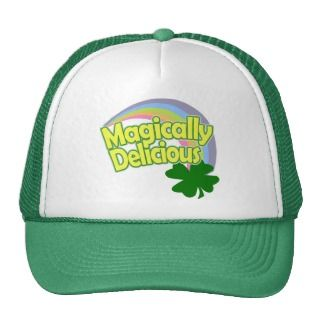 Funny St Patricks Day Rainbow Mesh Hat