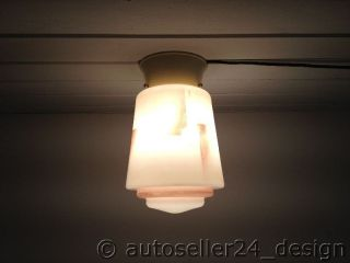 Antike Erco Leuchten Art Deco Deckenlampe Lampe Bauhaus Glas Antik