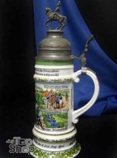 AK KAISER  German beer stein mug porcelain  258