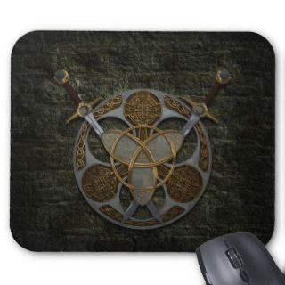 Celtic Shield and Swords Mousepad