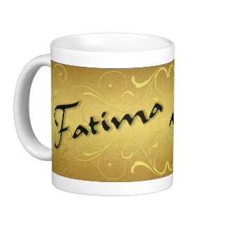 Name Fatima in English and Persian Mug