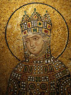 Mosaic of Empress Zoe, Hagia Sophia, Istanbul, Turkey, ope Photographic Print by Godong