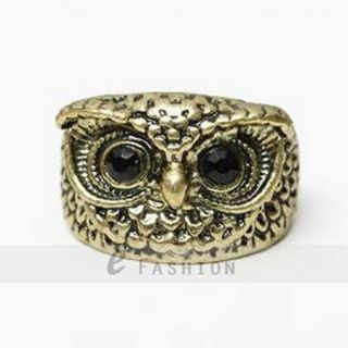 Ring Eule Style Ringe Damen Retro Fingerring antik Gold/Silber NEU 102