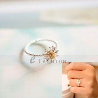 Ring Chrysanthemum Blume Style Ringe Damen Fingerring NEU 102 0195