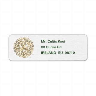 Golden Celtic Knot Labels