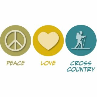 Peace Love Cross Country Skiing Acrylic Cut Outs