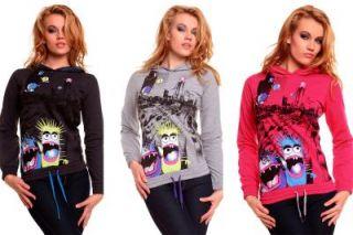Sublevel Pullover Sweatshirt mit Kapuze Hoodie Sweater in 3 Farben
