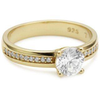 Esprit Damen Ring grace glam gold 925 Sterlingsilber vergoldet 23