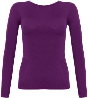 Damen T Shirt Langärmelig Shirt Oberteil Top Frauen Größe 36   42