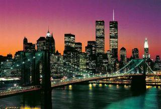 Fototapete MANHATTAN 366x254 New York City Brooklyn Bridge NYC USA