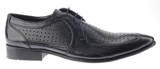 BOXX by MARC Shoes feine Herren LEDER Business Schuhe schwarz Gr.42