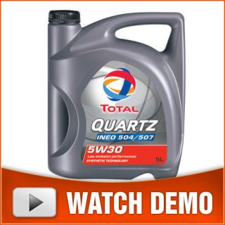 Total Quartz INEO 504/507 5w30 Fully Synthetic Low SAPS Petrol/Diesel
