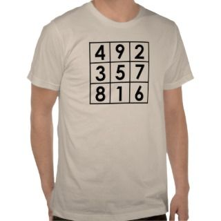 Magic square tee shirt t shirt 15 number