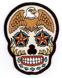 Sunny Buick Tattoo Eagle Skull Day Of The Dead Patch