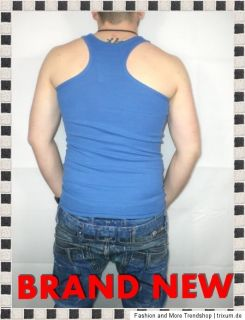 BRAND NEW PARTY / FITNESS TANK TOP MUSKELSHIRT BLAU GR. S XXL 3290