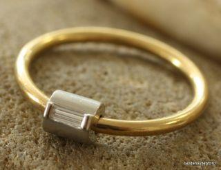 Moderner Gold/Platin Ring 750/950 GG/PT für 259 Euro