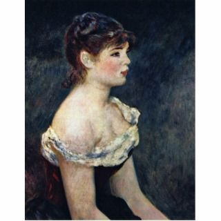 Portrait Of A Young Girl By Pierre Auguste Renoir Acrylic Cut Out