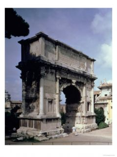 The Arch of Titus, to Commemorate the Emperors Sack of Jerusalem in 70 Ad, 81 Ad Giclee Print by Roman