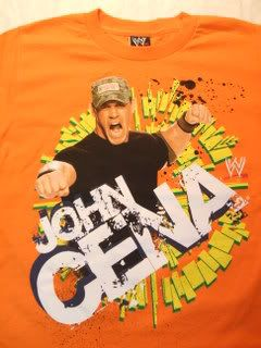JOHN CENA Orange WWE Wrestling T shirt