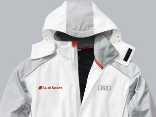 Original Audi Funktionsjacke Jacke Herren Sport weiß grau Größe XL